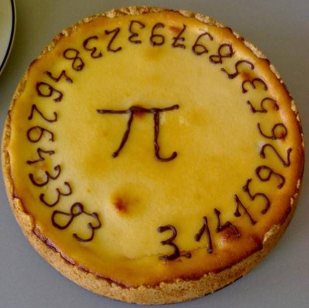 Torta feita pela Universidade Técnica de Delft no 'Dia do Pi' (Foto: Wikimedia Commons)