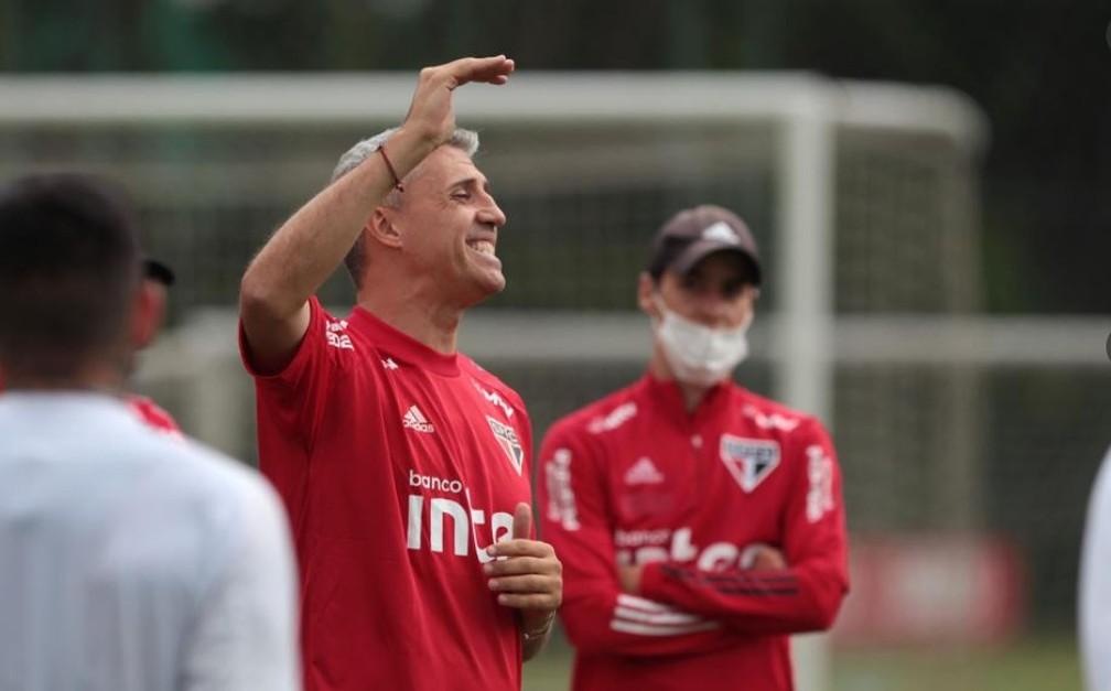 Hernán Crespo estreia no domingo — Foto: Twitter/São Paulo FC
