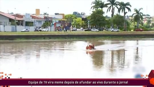 Cecília relembra vivo da TV TEM em que barco afunda; Repórter manda vídeo