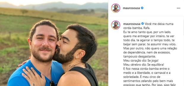 Mauro Souza, filho de Mauricio de Souza, e o marido, Rafael Piccin  (Foto: Reprodução/Instagram)