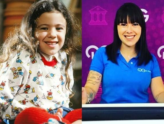 Carolina Pavanelli na época de 'Sonho meu' e atualmente (Foto: TV Globo / Reprodução)