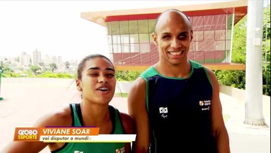 Juntos dentro e fora das pistas: casal de deficientes visuais embarca para o Mundial de Atletismo Paralímpico de Dubai