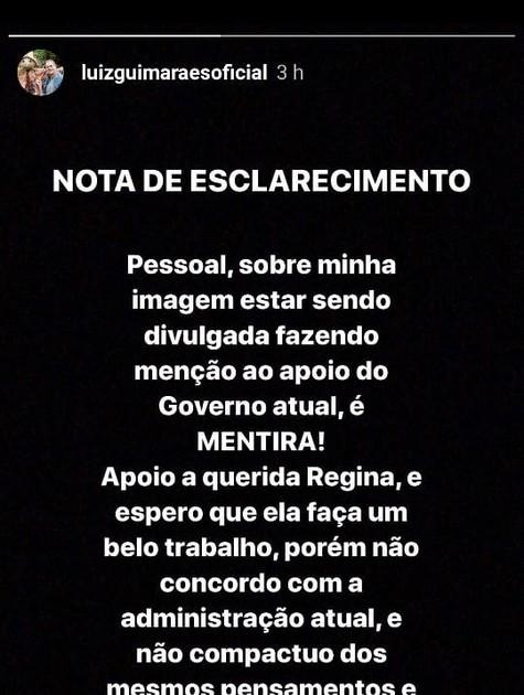 Postagem de Luiz Fernando Guimarães (Foto: Reprodução)