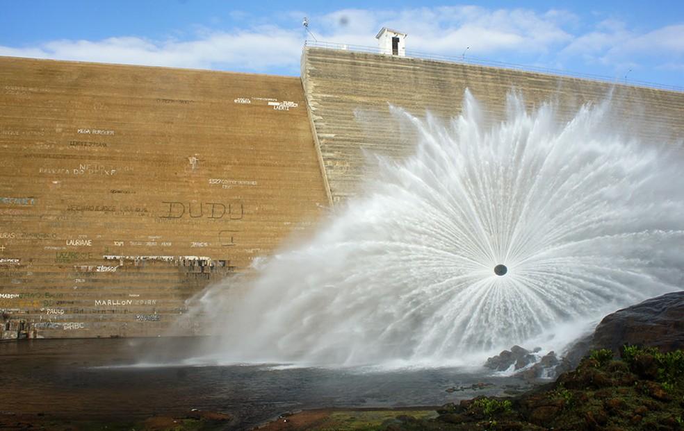 Barragem de Santa Cruz, em Apodi — Foto: Anderson Barbosa/G1