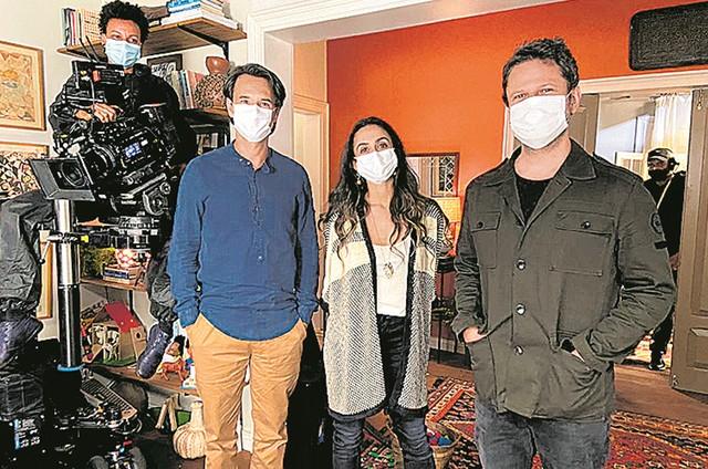 Rodrigo Santoro, Camila Lucciola e Selton Mello em 'Sessão de terapia' (Foto: Reprodução)