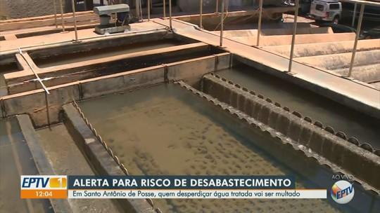 Multa por desperdício de água vai de R$ 200 a R$ 1,6 mil em Santo Antônio de Posse; abastecimento em alerta