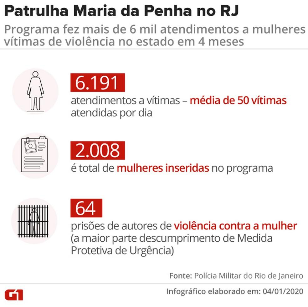Patrulha Maria da Penha em números — Foto: Aparecido Gonçalves/G1