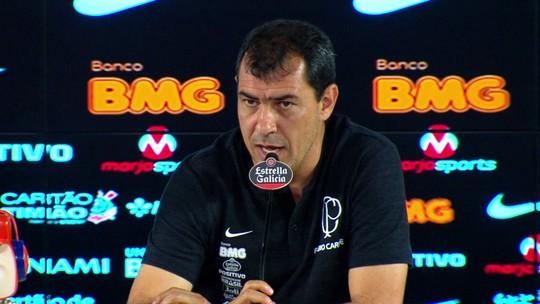"Carille analisa árbitro, lamenta derrota do Corinthians e diz: ""Ainda estamos na parte de cima"""