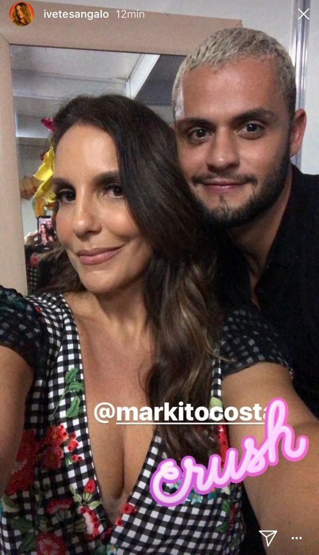 Ivete Sangalo e Markito Costa (Foto: Reprodução/Instagram)