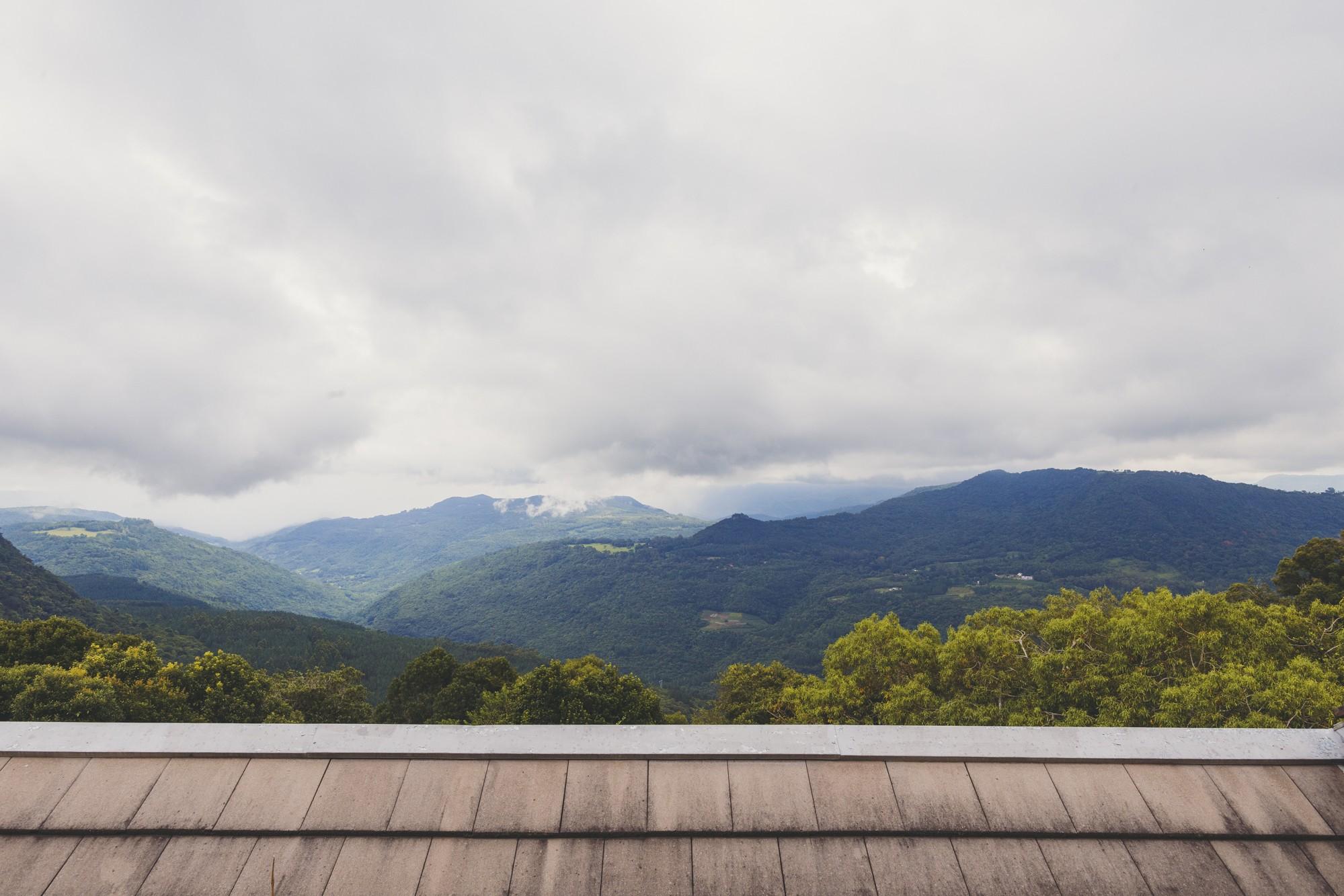 Vista a partir da Casa na Serra, em Canela, RS, da promoção Casas do Brasil, da Camicado  (Foto: Divulgação)