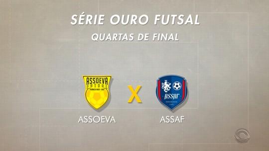 Assoeva e Assaf entram em quadra no fim de semana pelas quartas de final