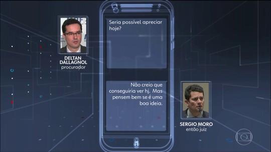 Site publica mais mensagens atribuídas a Moro e Dallagnol
