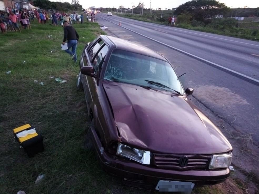Local onde idosa foi atropelada em Jupi — Foto: WhatsApp/Reprodução