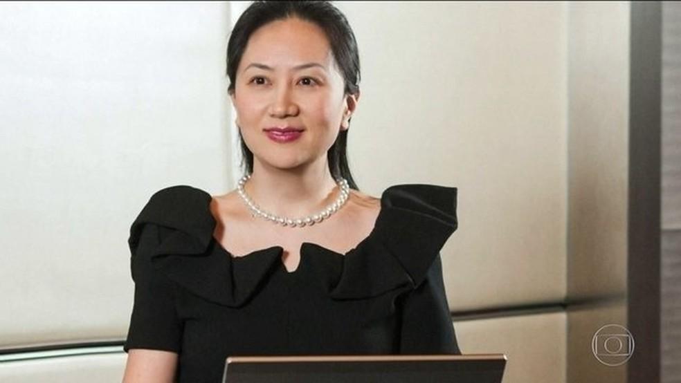 A pedido dos EUA, polícia do Canadá prende executiva chinesa  — Foto: Reprodução/JN