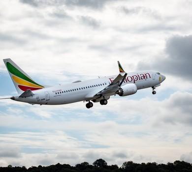 Um dos B737 MAX-8 da Ethiopian Airlines, modelo que caiu na noite de 10 de março (Foto: Facebook/Ethiopian Airlines)