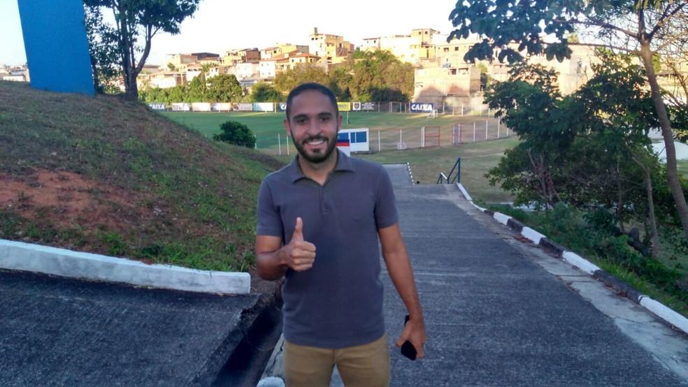 Régis começou a treinar no Bahia na última sexta (Foto: João Salvador)
