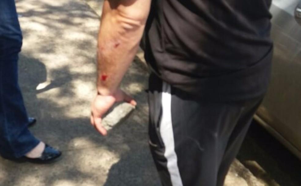 Professor é agredido com tijolo em São Carlos, SP (Foto: A Cidade ON/ São Carlos)