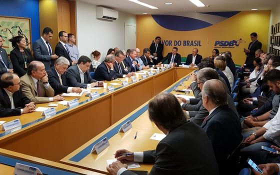 Reunião da Executiva do PSDB em Brasília (Foto: Divulgação)