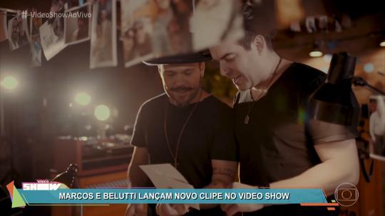 Marcos & Belutti lançam clipe colaborativo no 'Vídeo Show'