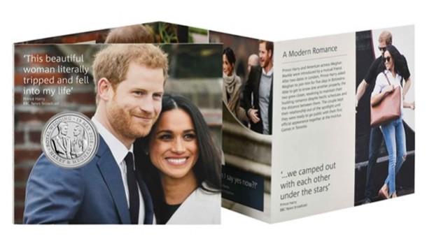 Moeda comemorativa do casamento de Harry e Meghan Markle (Foto: Divulgação)