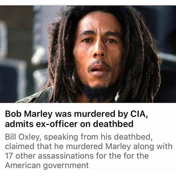 O post do rapper T.I. acusando a CIA de ter assassinado Bob Marley (Foto: Instagram)