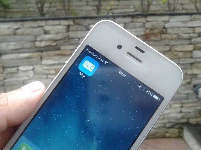 Brecha de seguran?a no aplicativo de e-mail do iOS permite roubo de senha (Foto: Marvin Costa/TechTudo)