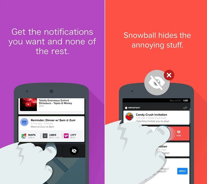 Snowball é um app de gerenciamento de notificações (Foto: Divulgação/Snowball)