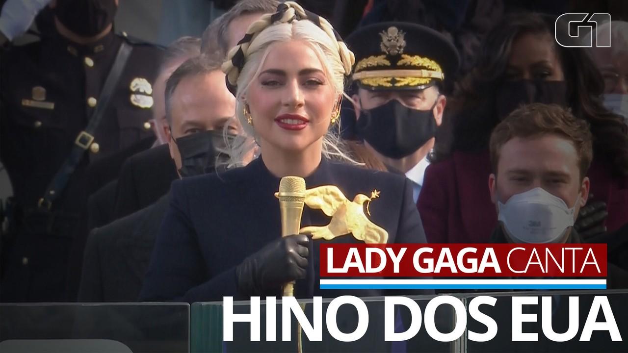 VÍDEO: Lady Gaga canta hino nacional americano na posse de Joe Biden