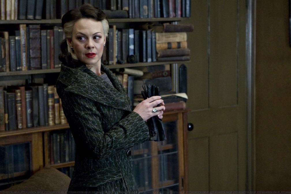 Helen McCrory em 'Harry Potter' — Foto: Divulgação