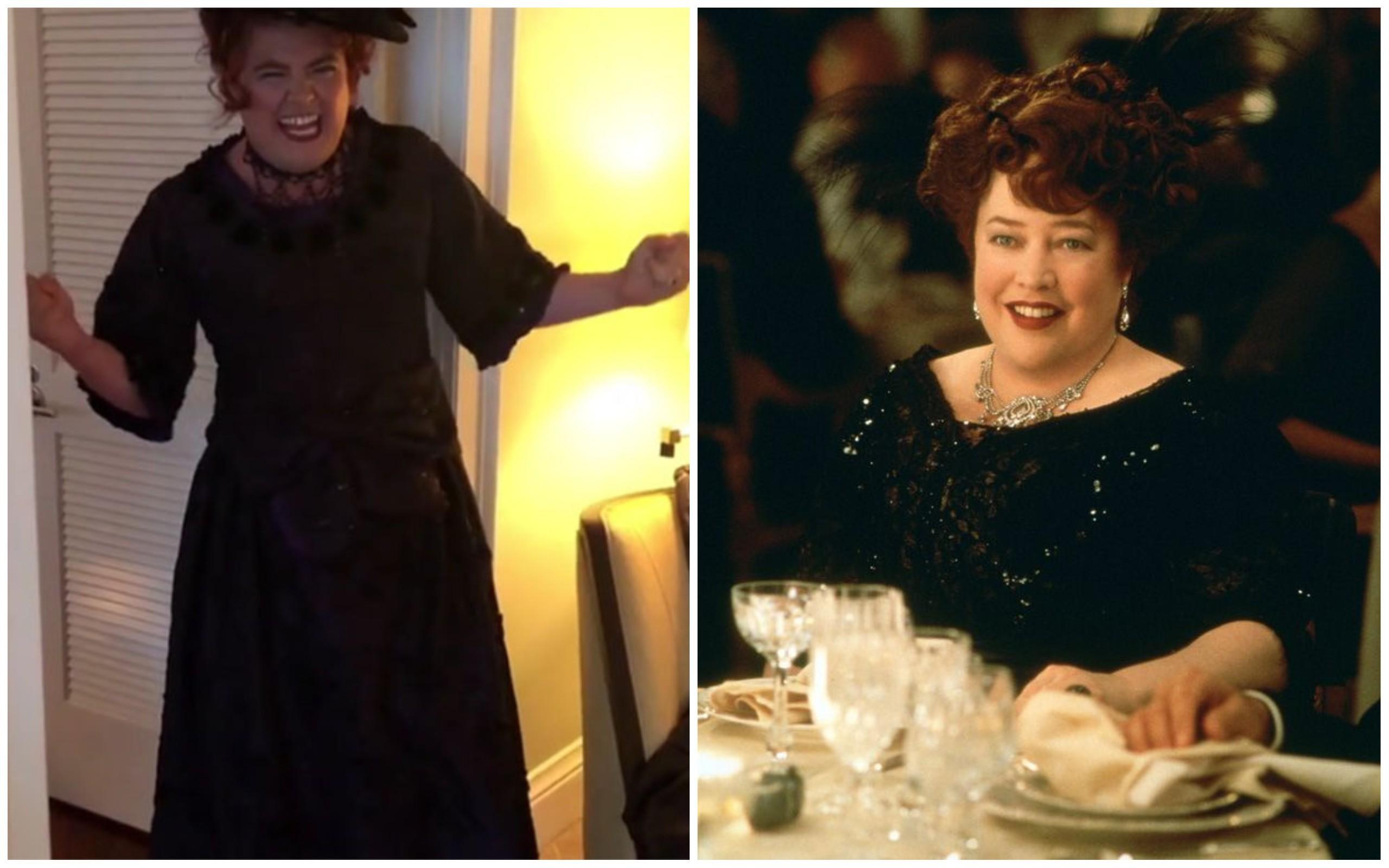 Alan Carr e Kathy Bates como Margaret Brown de Titanic (1997) (Foto: Instagram / Divulgação)