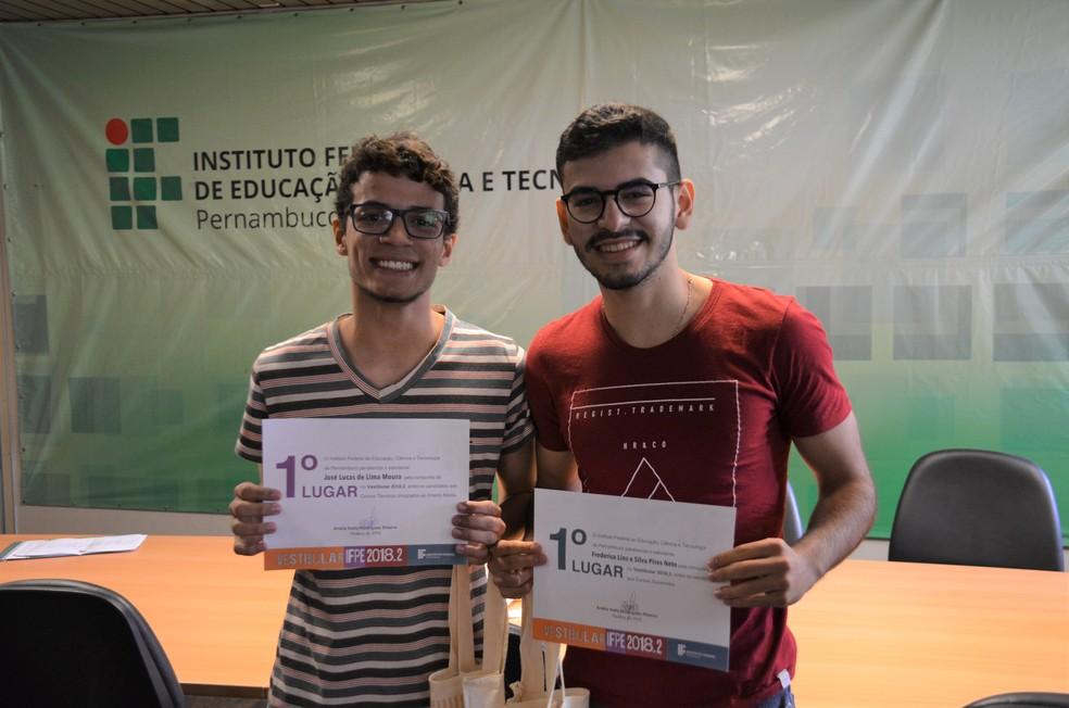 José Lucas e Freederico se destacaram no processo seletivo do IFPE (Foto: IFPE/Divulgação)