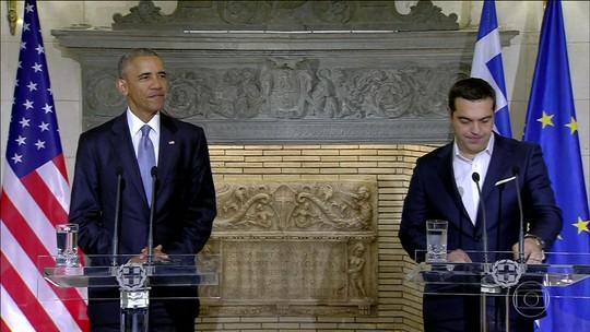 Obama, na Grécia, atribui vitória de Trump à frustração com economia