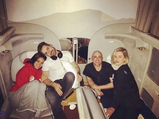 Paulo Gustavo com Bruna, Fiorella e o marido  (Foto: Reprodução)