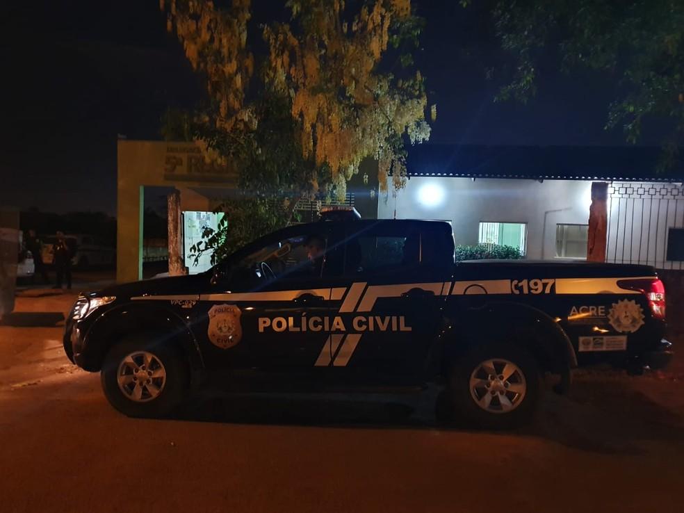 Polícia Civil de Porto Acre prendeu conselheiro suspeito de abusar sexualmente de menina de 13 anos — Foto: Arquivo/Polícia Civil do Acre