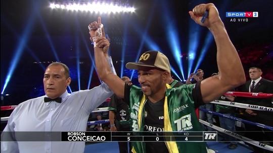 Robson Conceição vence rival da Nicarágua e chega a 5 vitórias no boxe profissional