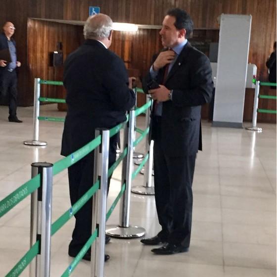 Ex-deputado Natan Donadon vista a Câmara (Foto: Marcelo Rocha)