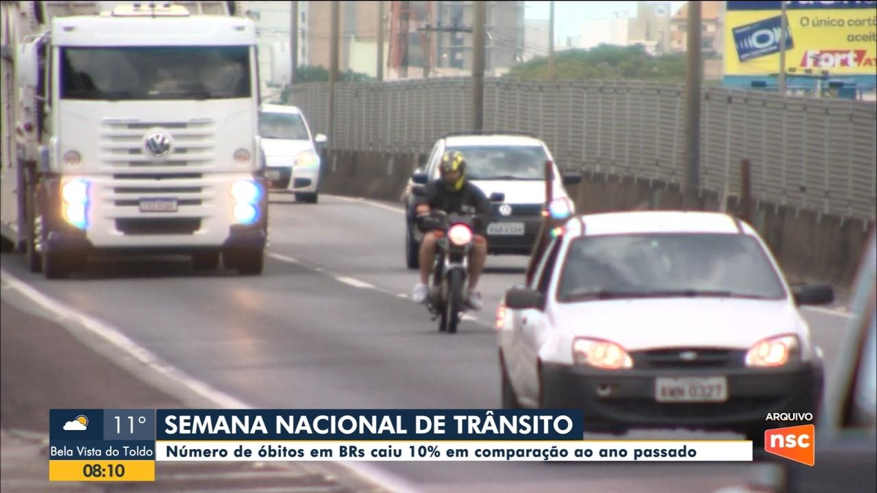 Semana Nacional do Trânsito: Número de mortes em BRs ainda é alto
