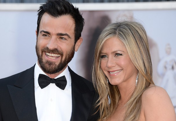 Justin Theroux e Jennifer Aniston:  (Foto: Getty Images)