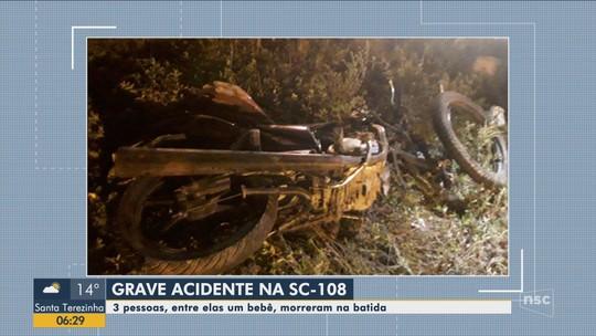 Colisão seguida de atropelamento deixa 3 mortos na SC-108, em Joinville