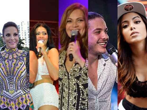 Ivete, Aviões do Forró, Anitta, Simone e Simaria e Wesley Safadão estarão na festa (Foto: Arte/G1)