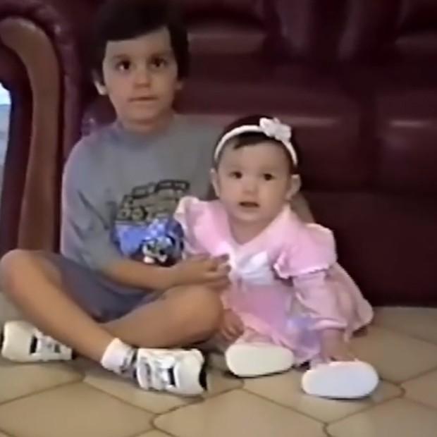 Luan Santana e a irmã, Bruna (Foto: Reprodução/Instagram)