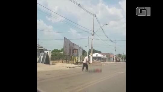 Corpo de homem assassinado com placa de cimento jogada na cabeça é identificado