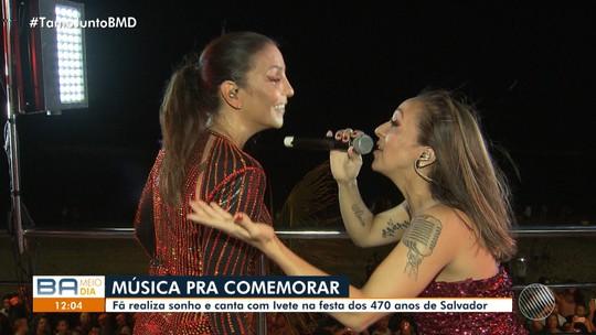 Fã descoberta no 'Minha Vida no Buzu' realiza o sonho de cantar com Ivete