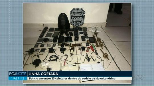 Polícia apreende 23 celulares durante revista na cadeia de Nova Londrina