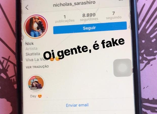 Maísa Silva denuncia conta fake criada pelo namorado (Foto: Reprodução/Instagram)