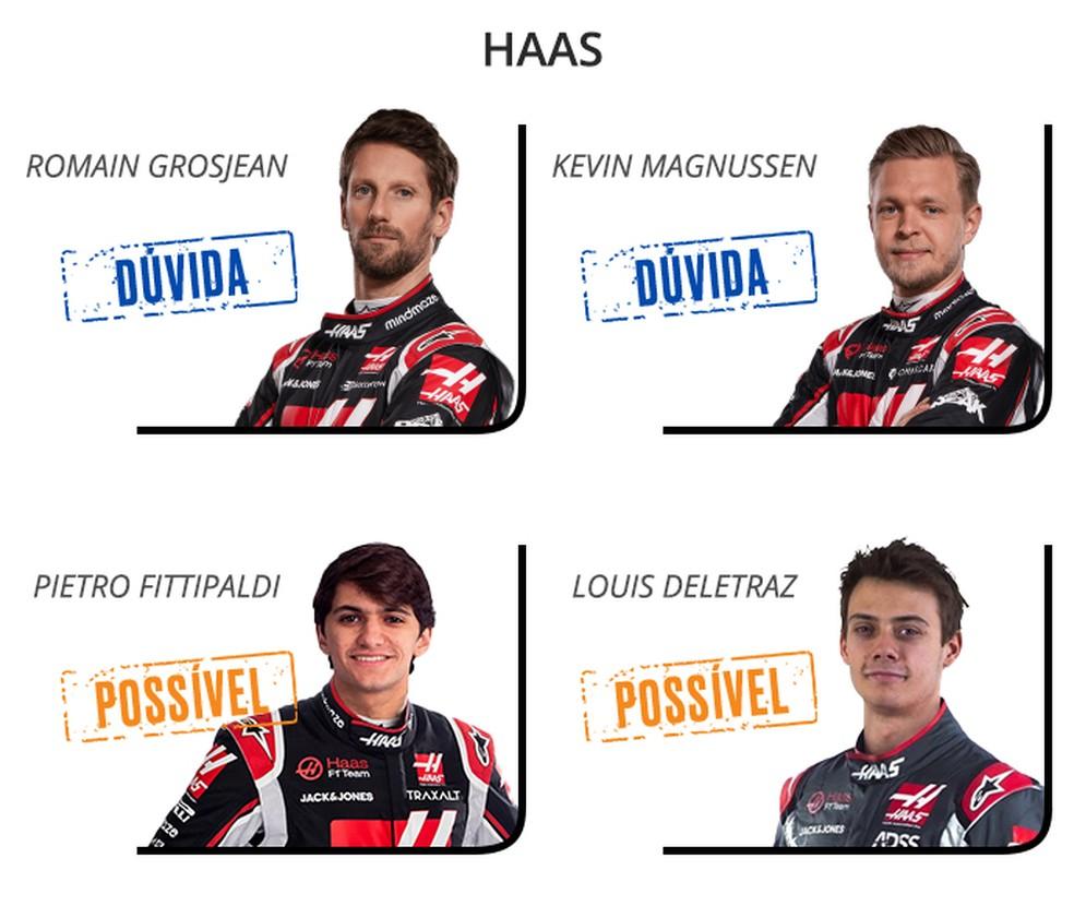 Haas F1 2021 — Foto: Infoesporte