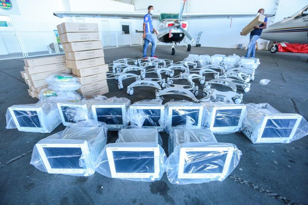 Piauí recebe mais 20 respiradores para leitos de UTI — Foto: Divulgação/CCOM