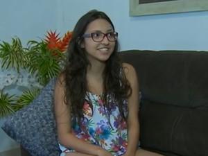 Vitória Dantas, estudante (Foto: Reprodução/ TV Asa Branca)