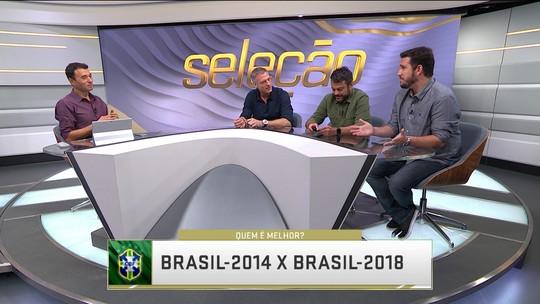 """""""Quem é melhor?"""" compara seleção brasileira de 2014 e 2018"""