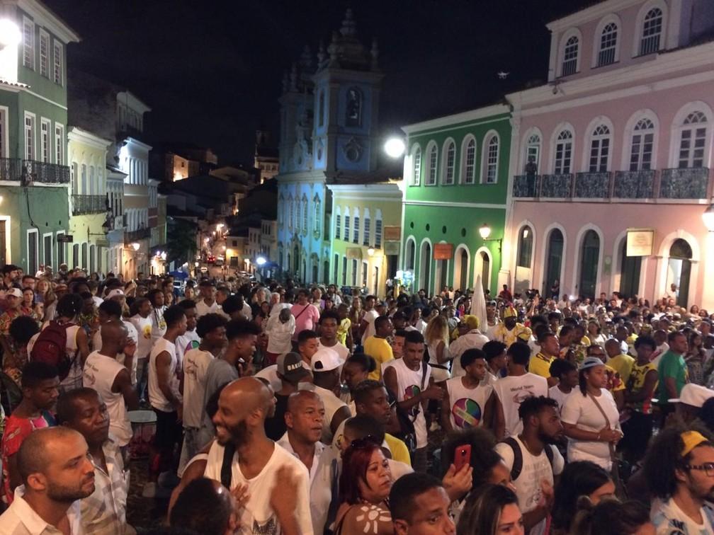 Capoeiristas marcaram presença no ato em homenagem a Moa do Katendê — Foto: Giana Matiazzi/TV Bahia